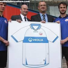 During the presentation of fc hansa rostock's new main shirt sponsor veolia, the club also unveiled the design for the new home shirt made by masita for next season. Hansa Rostock 10 11 Masita Home Shirt Design 10 11 Kits Football Shirt Blog