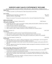 Restaurant Waiter Resumes Restaurant Waiter Resume Sample Captivating Sample Resume Restaurant