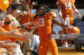 Duane Coleman of the Clemson Tigers celebrates with fans before the... News  Photo - Getty Images