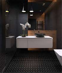 black bathroom floor tiles matte tile