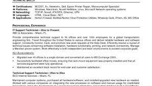 Resume Format For Desktop Support Engineer Resume Template Easy