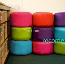 Kids Seat , beanbag stools, Many colors point Bean Bag Footstool  Indoor-Outdoor PINK, tea cup table beanbags, footrest
