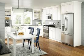 Basics Wesley Square White Timeless Tall Kitchen Cabinets