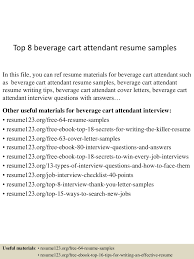golf cart attendant cover letter paralegal resume objective top 8 beverage cart attendant resume samples top8beveragecartattendantresumesamples 150528042614 lva1 app6891 thumbnail 4 top 8 beverage