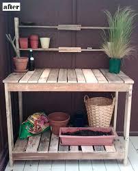 garden potting table design