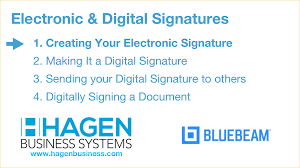 Bluebeam Signatures Getting Started 1 Hagen Business Systems