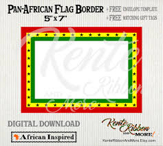 5x7 border template diy printable pan african ghana flag 5x7 border 2 up on 8 5x11