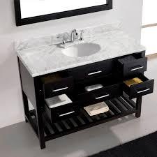 virtu usa ine estate 48 single bathroom vanity set in espresso