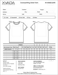clothing order form template word shirt form omfar mcpgroup co