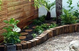 beetumrandung wooden garden edging