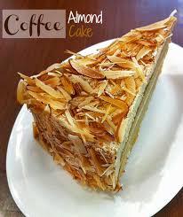 Coffee Almond Cake • LeelaLicious