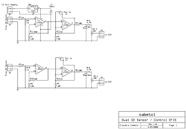 diy dual oxygen sensor fuel saver circuit efie click on schematic to a larger file