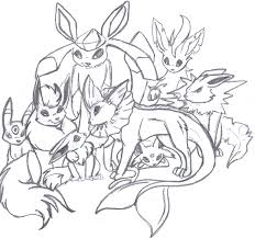 Small Picture All Evolved Forms Of Eevee Coloring Coloring Pages