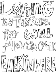 Learning Is A Treasure Coloring Sheetsadult