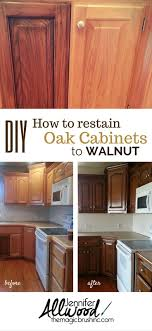 amazing how to change the look of kitchen cabinet and furniture finish dark walnut stain your tired oak a magic brushinc com ha step by instruction