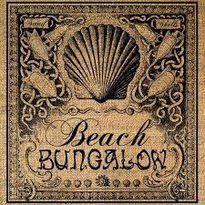 Beach Bungalow Shells Ocean Seashore Digital Image Download Transfer