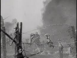 hands on barbed wire after explosion from all quiet on the  hands on barbed wire after explosion from all quiet on the western front