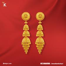 Madrasi Gold Jhumka Designs Make Your Bride Shine On Her Wedding With This Exquisite
