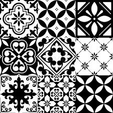 Pattern In Spanish Gorgeous Spanish Tiles Moroccan Tiles Design Seamless Black Pattern Stock