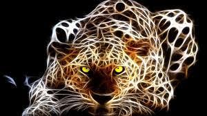 Neon tiger art hd wallpaper