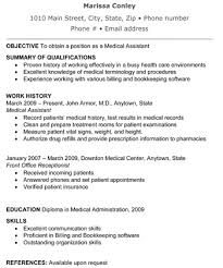 Example Of Medical Assistant Resume Impressive Medical Assistant Resume The Resume Template Site