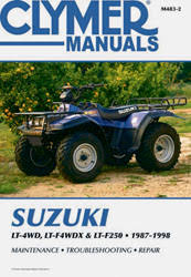 suzuki lt250 quadrunner wiring diagram suzuki suzuki atv manuals diy repair manuals clymer on suzuki lt250 quadrunner wiring diagram