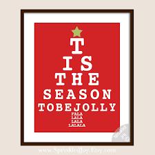 Christmas Eye Chart Tis The Season To Be Jolly Choose