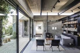... in gallery Contemporary family room in modern Israeli home with concrete  ceiling