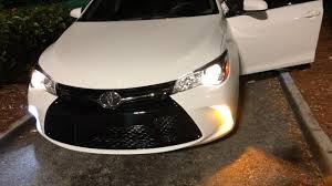 2017 Toyota Camry Led Fog Lights Easy Install Drl Leds On 2017 Toyota Camry Se Fog Turn Signal Lights
