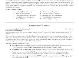 Resume Construction Superintendent Resume Stunning Intriguing