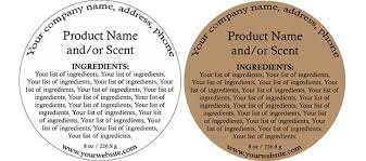 Ingredients Label Template Ingredients Template Yahoo Image Search Results Soap