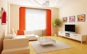 Interior Living Room Appealing Apartment Ideas With Orange Draw Then  Wonderful Design For Small In India