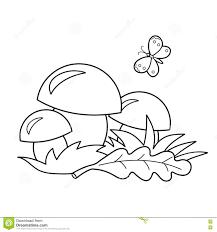 Profilo Della Pagina Di Coloritura Dei Funghi Del Fumetto Regali Di