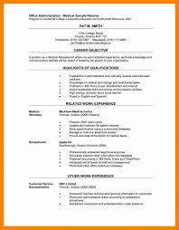 Medical Receptionist Resume Free Medical Receptionist Resume Sample 100 73