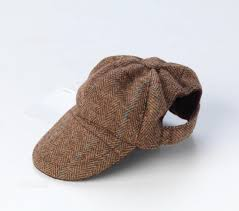 brown tweed dog hat cap for small medium dogs