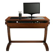 realspace coastal ridge writing desk 31 18h x 42 black glass office desk 1