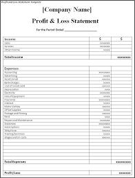 Loss And Profit Form Classy Profit Loss Form Metalrus