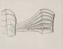 Art drawing office Comic Ludwig Mies Van Der Rohe Friedrichstrasse Office Building Project Berlinmitte Germany perspective Sketch 1929 Art For Kids Hub Ludwig Mies Van Der Rohe Friedrichstrasse Office Building Project