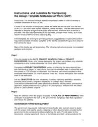 design statement of work 23 printable design statement of work template forms