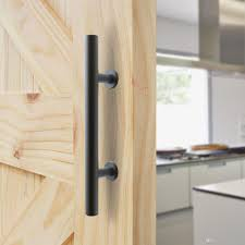 black stainless steel barn door handle sliding wood door handle barn door pull hande two side installation barn door handle sliding barn door handle door