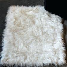 white faux fur area rug off white faux sheepskin area rug