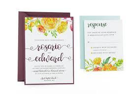 Wedding Cards Template Summer Bouquet Free Wedding Invitation Template