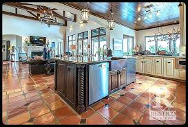 kitchens with tile floors sealing mexican and stone kitchen