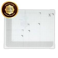 docrafts xcut a3 white square tempered glass cutting mat