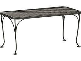 woodard mesh wrought iron 36 x 18 rectangular coffee table