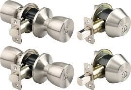 Decorating door knob sets keyed alike photos : Brinks 2798-119 Bell Style Keyed Alike Door Knob and Deadbolt Set ...