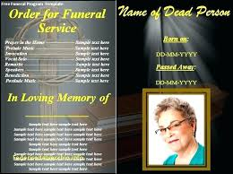 Pamplet Templates Obituary Pamphlet Template Altpaper Co