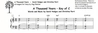 A Thousand Years Sheet Music A Thousand Years By Christina Perri Angi Bemiss