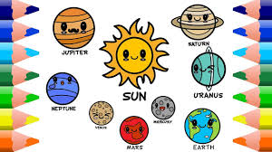 draw 9 cute planets of our solar system learn names of the planets clipzui com