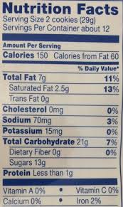 cinnamon bun oreo nutrition facts